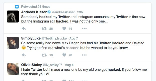 Twitter Account Hacked