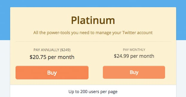 Platinum Pricing Tweepi