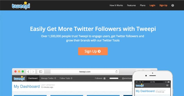 Tweepi Website