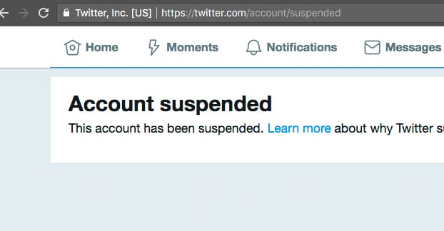 Account Suspended Example