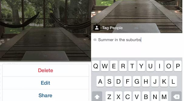 Adding Captions to a Post