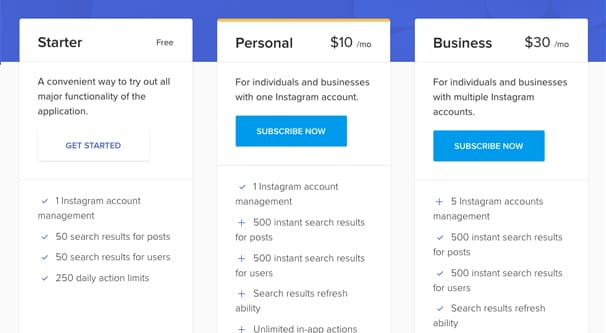Pricing Page Combin