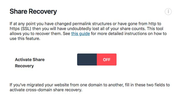 Share Recovery