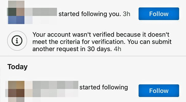 Why Your Instagram Profile Verification Application Was Denied
