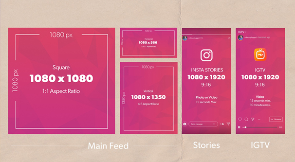 Instagram Dimensions Cheatsheet