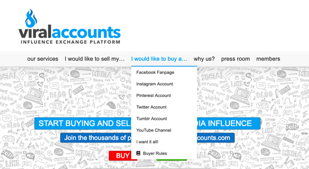 Buying and Selling Accounts
