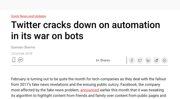 Twitter Cracking Down on Automation