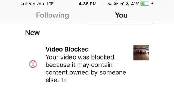 Video Blocked on Copyright Grounds