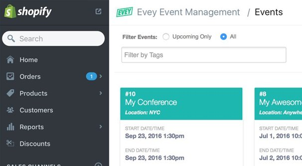 Shopify Event Manager