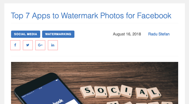 Apps to Add Watermarks