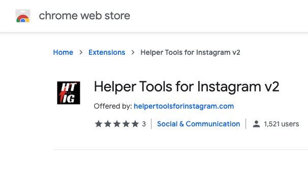 Helper Tools for IG