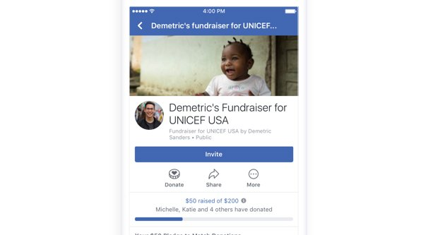 Facebook Page Donations